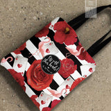 Queen of Hearts and Flamingo Tote Bags