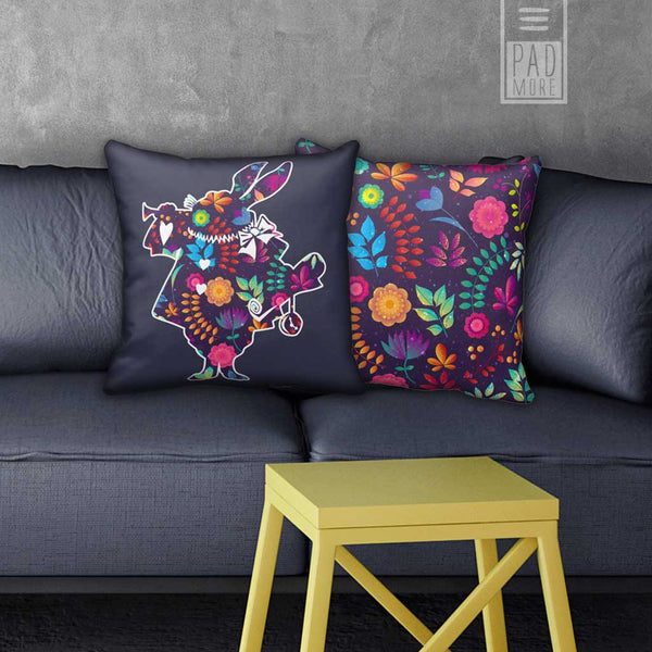 Flowery Rabbit Pillows