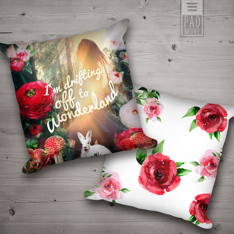Drifting Off to Wonderland Pillows