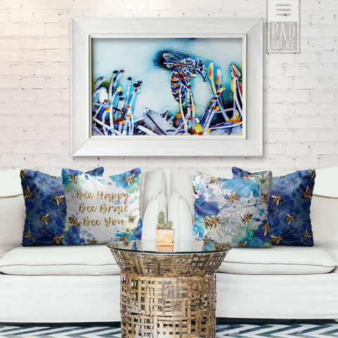 Bee in Blue Sky Wall Art