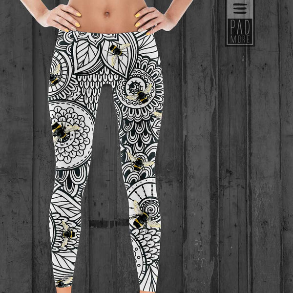 Black Bees Leggings