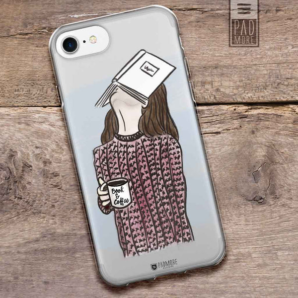 Face on Book Clear Phone Case