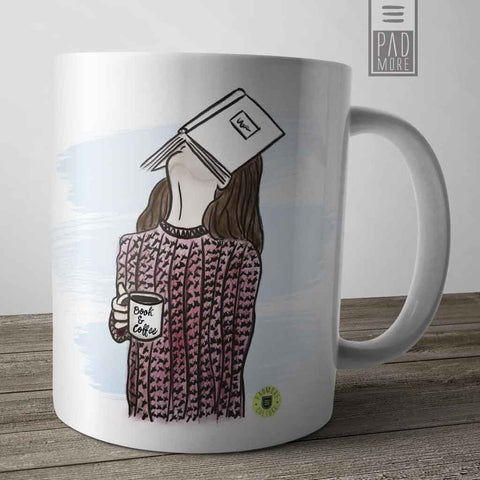 Face on Book Mug