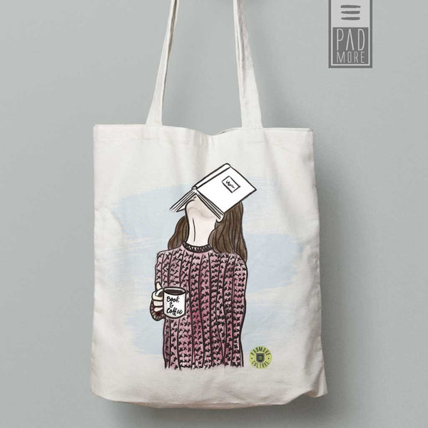 Face on Book Tote bag