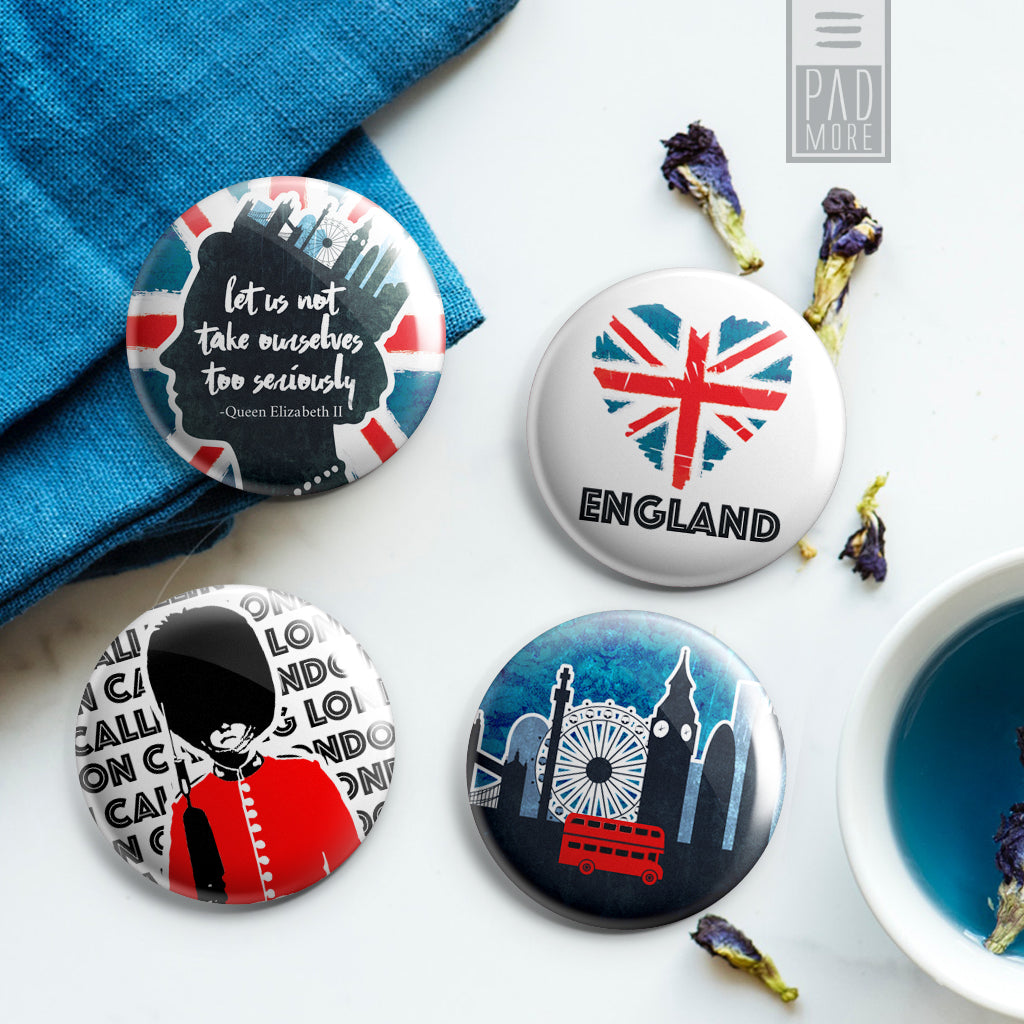 London in our Hearts Buttons