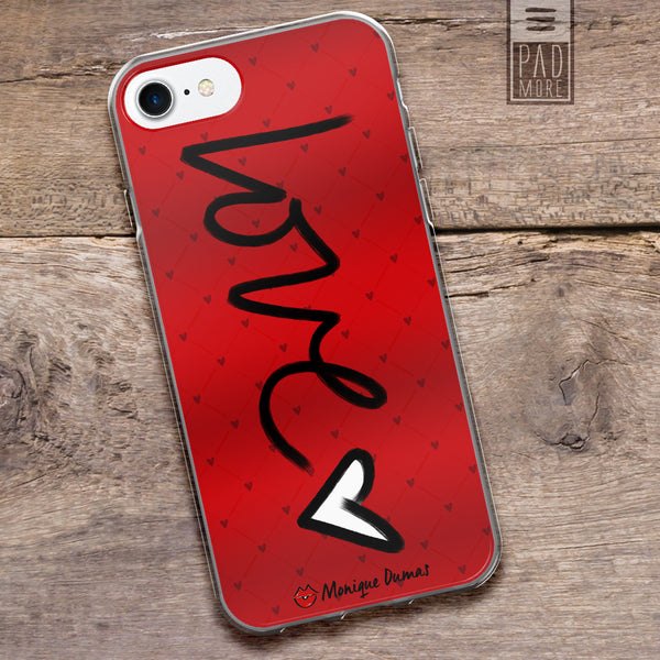 Love is All Around Red Phone Case