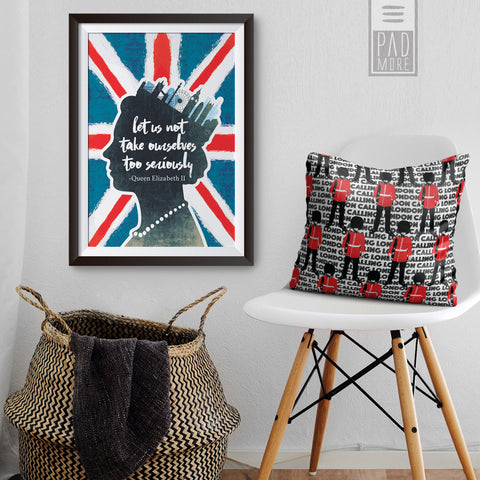 Tribute to the Queen of England Art Print