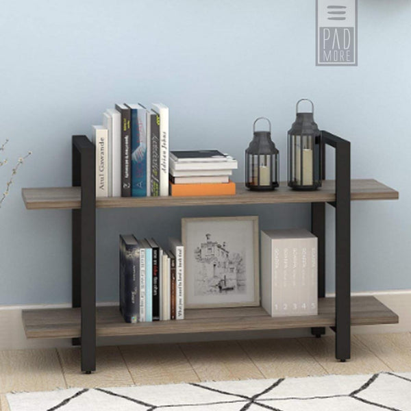 Rustic Industrial 2-Tier Bookshelves