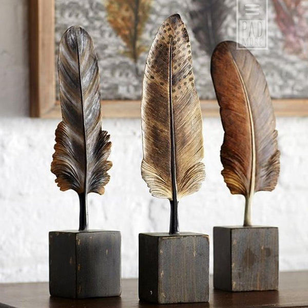 Writing Feathers Figurines