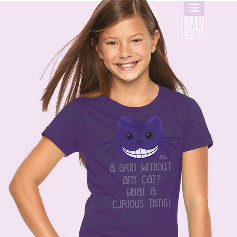 Allie Cat's Grin Girl's T-Shirt