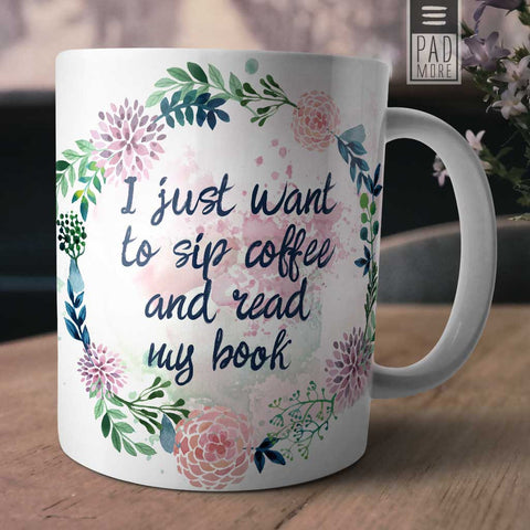 I Just Want to Read Mug