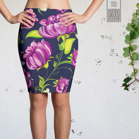 Love Flowers Pencil Skirt