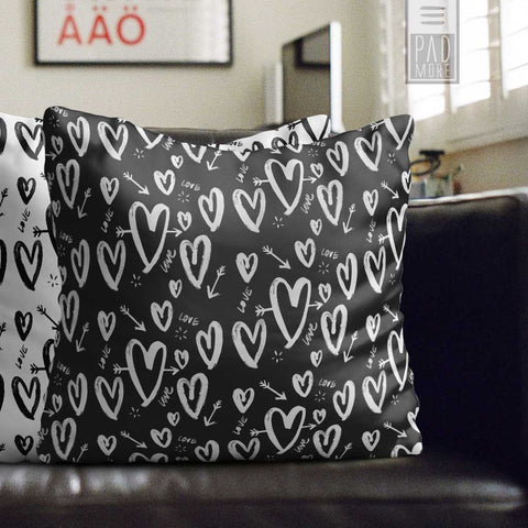 A True Love Story Black Pillow