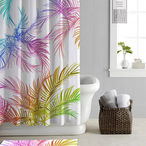 Colorful Summer Shower Curtains