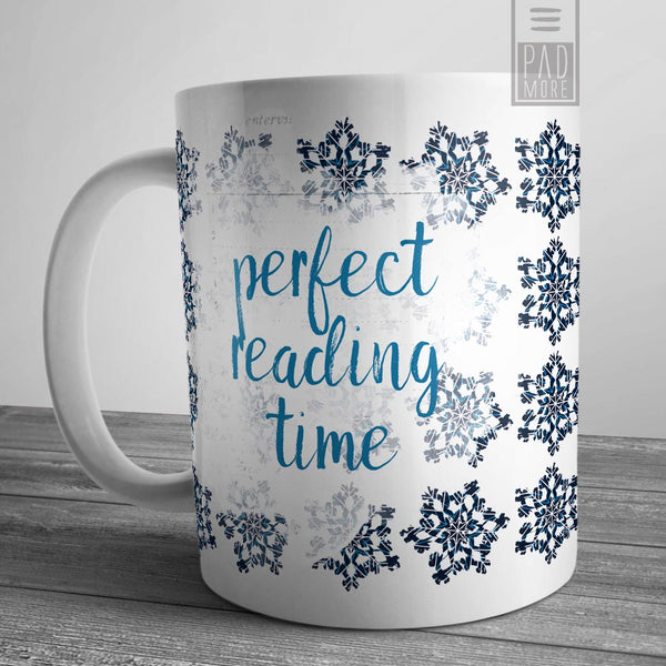 Snowflake Reading Time Mug