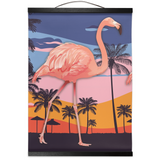 Flamingo on the Move Hanging Canvas