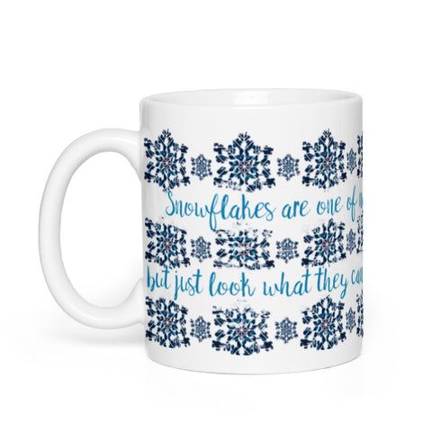 All Together Now Snowflakes Mug