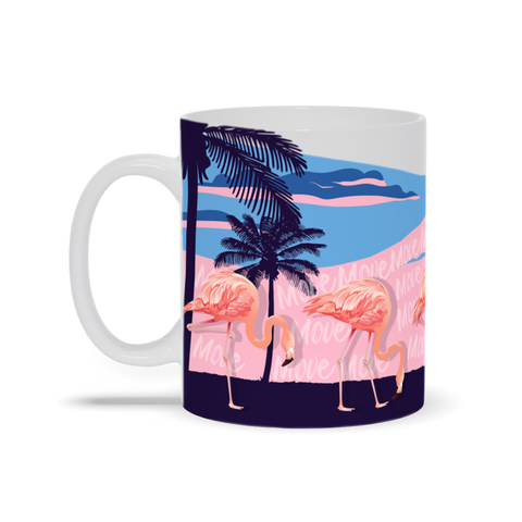 Flamingos on the Move Mug