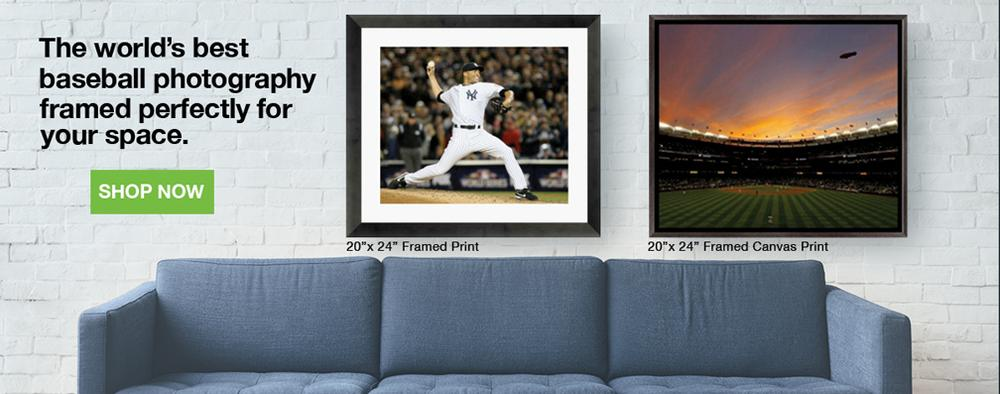 The world's best baseball photography, framed perfectly for your space.