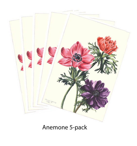 Note Card - Anemone 5-pack