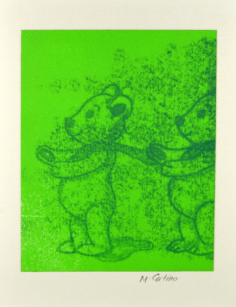 Note Card - Bears 2 Green