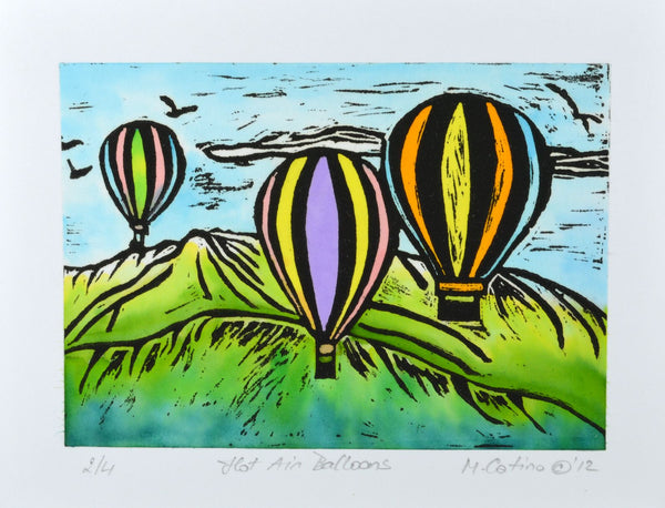 Note Card - Hot Air Balloons Color 01