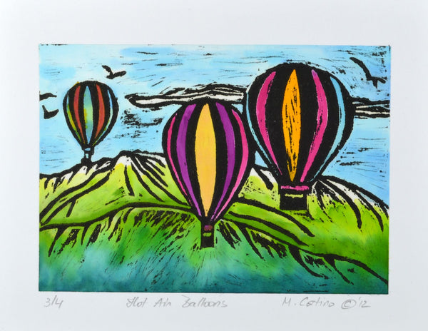 Note Card - Hot Air Balloons Color 02