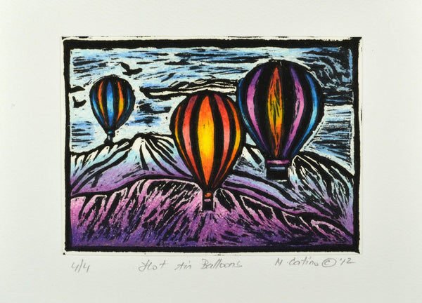 Note Card - Hot Air Balloons Color 03