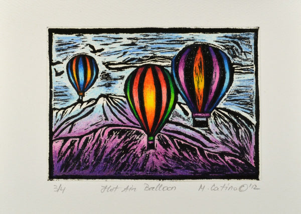 Note Card - Hot Air Balloons Color 04