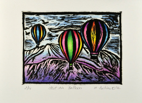 Note Card - Hot Air Balloons Color 05