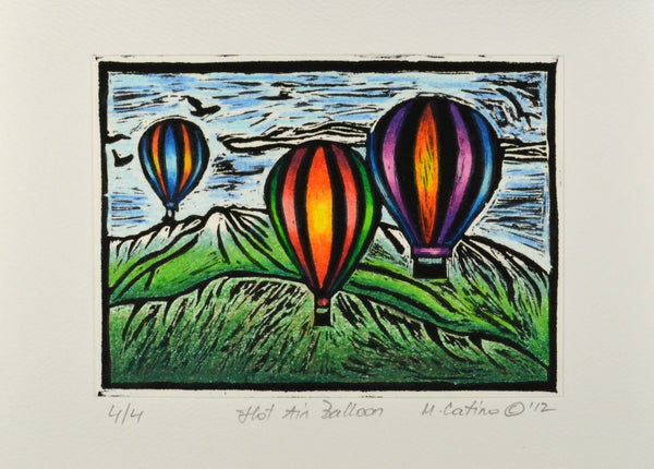 Note Card - Hot Air Balloons Color 06