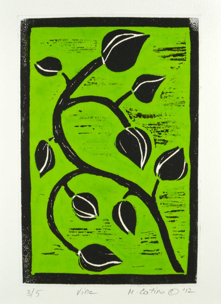 Note Card - Vine Green