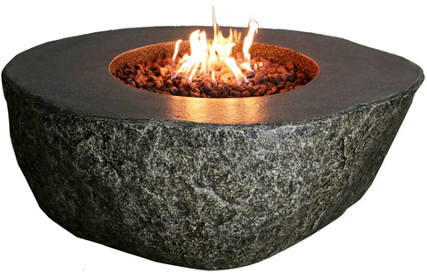 Burning Rock Cast Ecostone Fire Table  (OFE102)