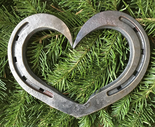Horseshoe Heart in 3 sizes for weddings and iron anniversaries