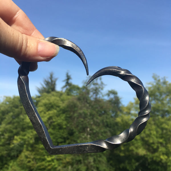 Delicate Iron heart for a wedding or iron anniversary
