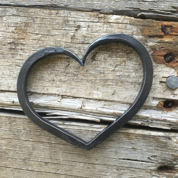 Personalized Iron heart for a wedding or iron anniversary