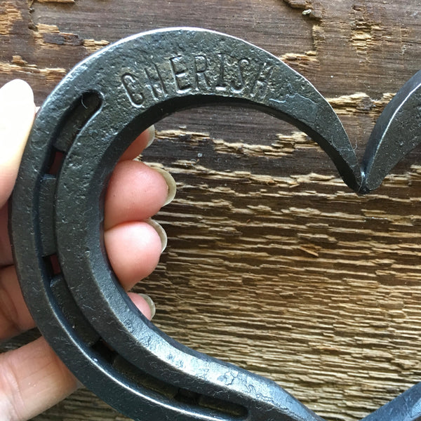 horseshoe heart by HammeredForge