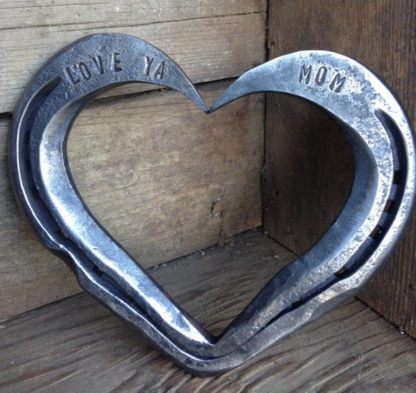 Mother's Day Gift - LOVE YA MOM Horseshoe heart