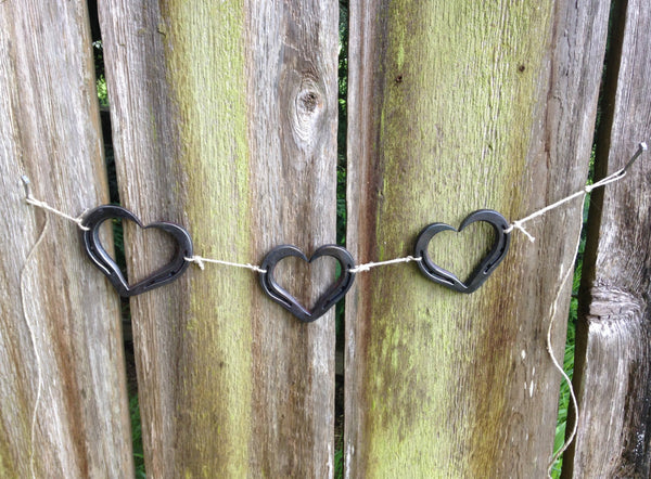 Horseshoe heart Garland