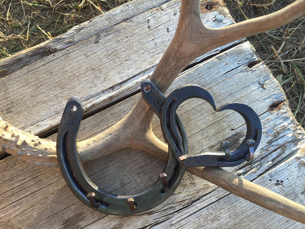 Horseshoe and little heart hook, jewelry hook, key hook
