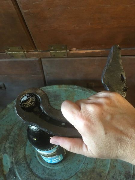 Huge Hand forged horse headed bottle opener