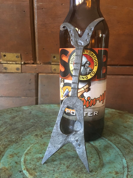 Hand Forged electric guitar bottle opener by HammeredForge