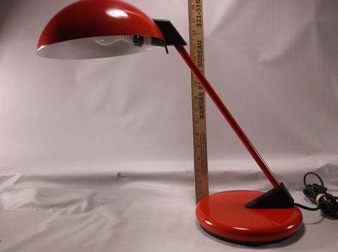 Vintage Table Lamp Mid Century Red Vintage industrial lighting retro lamp in working condition