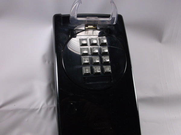 Push Button Wall Phone Vintage Black Cortelco .epsteam