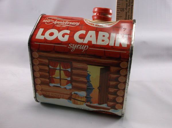 Vintage 100th Year  Anniversory 1987 Log Cabin Syrup Tin.epsteam