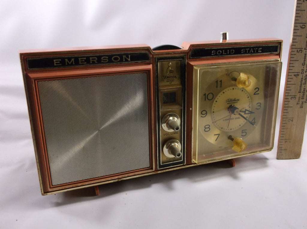 Clock Radio Vintage Emerson Solid State Clock Radio Model #31L11-Works Good!.epsteam