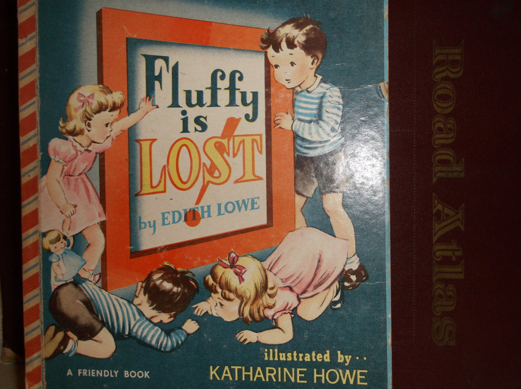 1950 Children s Book Fluffy Is Lost By Edith Lowe illustrated by Katharine Howe.epsteam