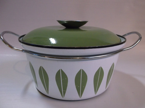 "7 3/4"" Catherineholm lotus pattern - Made in Norway enamelware dutch oven casserole.epsteam"