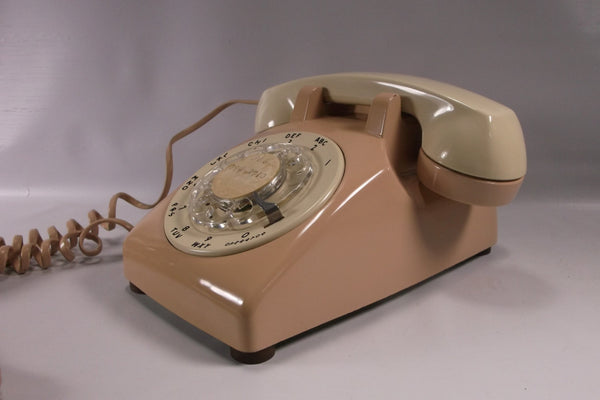 Telephone Retro Rotary two toned  beige and tan.epsteam