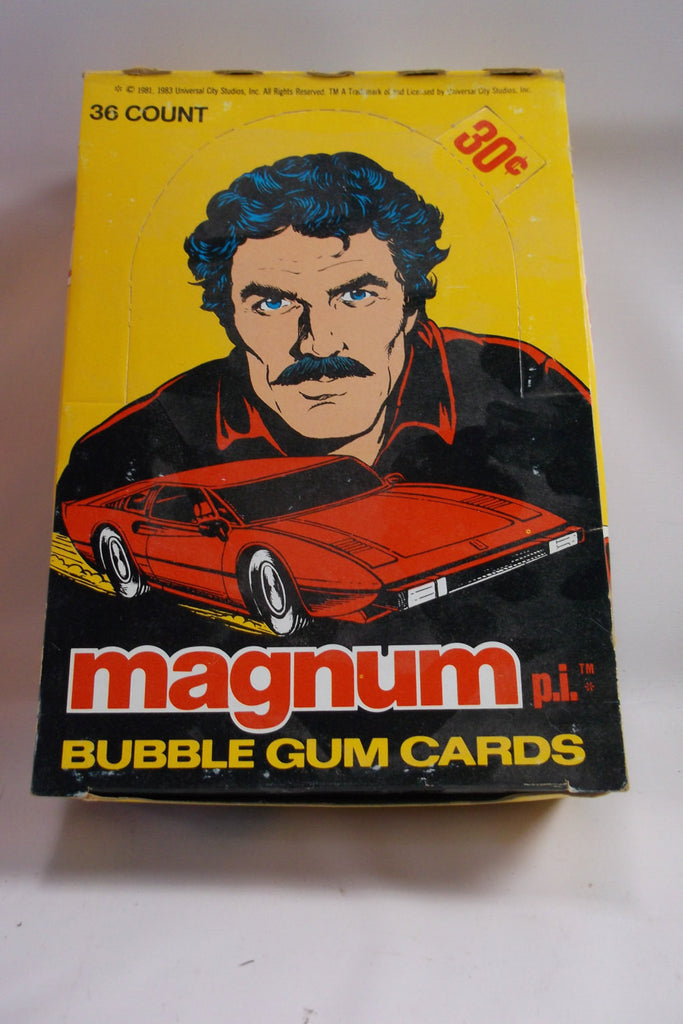 1981 Magnum Private  Eye T V series unopened trading cards Wax Box non sports.epsteam